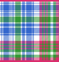 Green blue check tartan plaid seamless pattern vector