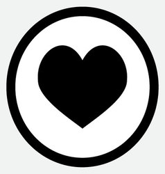 Heart icon black vector image vector image