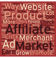 How to Constantly Grow Your Affiliate Check text vector image vector image
