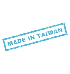 Made in taiwan rubber stamp vector