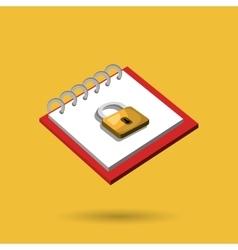 memo pad isolated icon design vector image