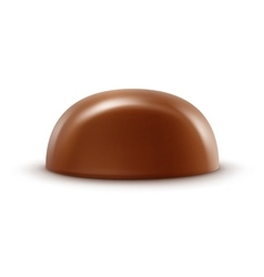 Milk chocolate candy isolated on background vector