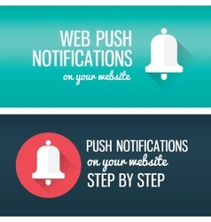 Notifications call icon with bell and title vector image vector image