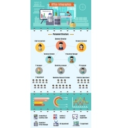 Office Infographic Set vector image