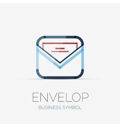 Open envelop company logo business concept vector