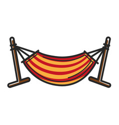 Striped hammock for relax vector