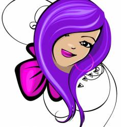 Stylized woman graphic vector