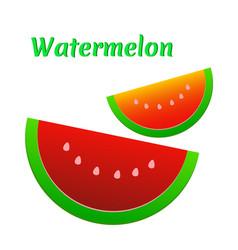 watermelon icon cute red watermelon slide vector image vector image