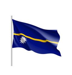 Waving flag of nauru vector