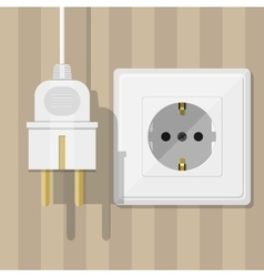 White Socket and plug vector image vector image