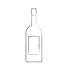wine bottle drink beverage market product vector image