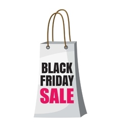 Shopping bag black friday sale icon cartoon style vector
