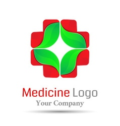 Medical health-care volume logo colorful 3d design vector
