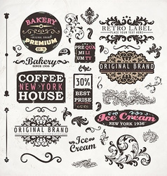 Coffee Label Set vector image