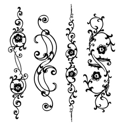 swirling ornament vector image