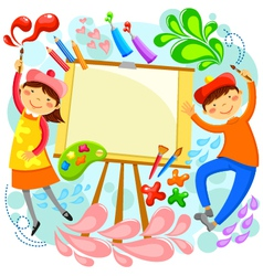 artistic children vector image