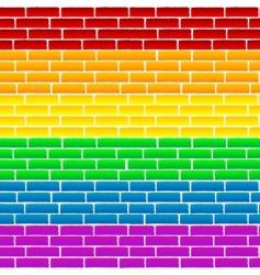 rainbow wall vector image