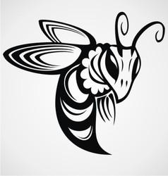 Bee tattoo design vector