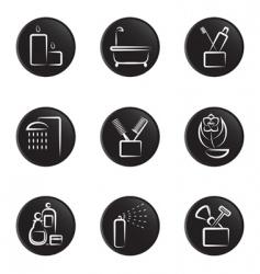 bathroom icons vector image