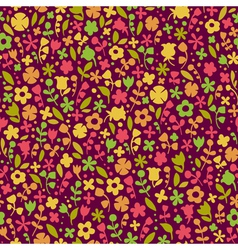 Bright seamless texture with flowers endless vector