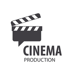 Logo slate board for shooting movies vector