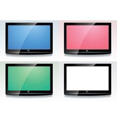 set of lcd screens vector image