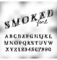 Smoked font set vector