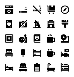 Hotel services icons 4 vector