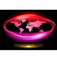 World abstract circle on black purple vector