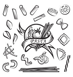 pasta elements vector image