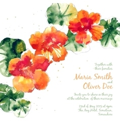 Background with orange watercolor vector