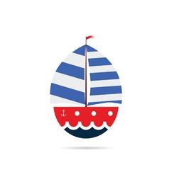 boat icon color vector image
