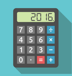 calculator showing 2016 year vector image