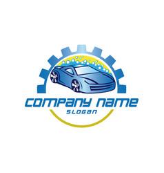 carwash logo vector image