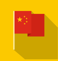 Chinese national flag icon flat style vector
