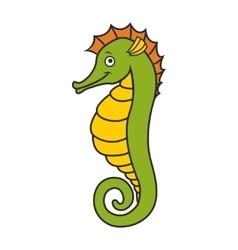 cute seahorse vector image vector image