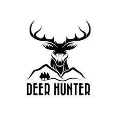 Deer headpines and mountains vector