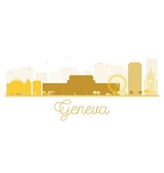 Geneva city skyline golden silhouette vector