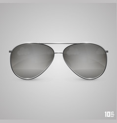 Glasses black vector