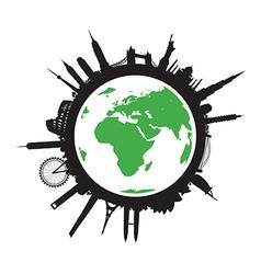 Green round cityscape vector