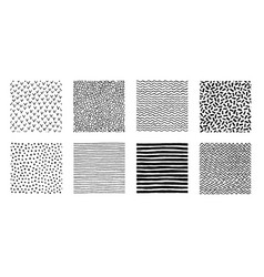 hand drawn patterns doodle design vector image vector image