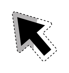 Isolated click cursor vector image vector image