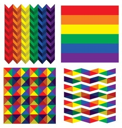 Lgbt flags resize vector