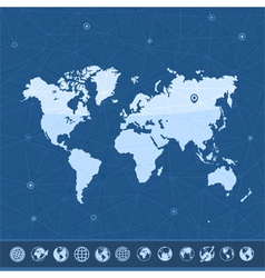 Map of the earth vector image vector image
