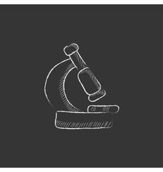Microscope Drawn in chalk icon vector image vector image