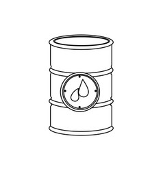 monochrome contour with petroleum barrel vector image vector image