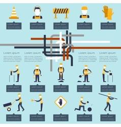 Road worker infographic vector image vector image