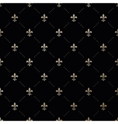 Seamless gold pattern with fleur-de-lis vector