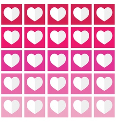 Seamless ombre pattern with hearts - valentines vector