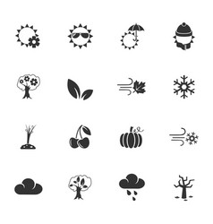 Seasons icon set vector
